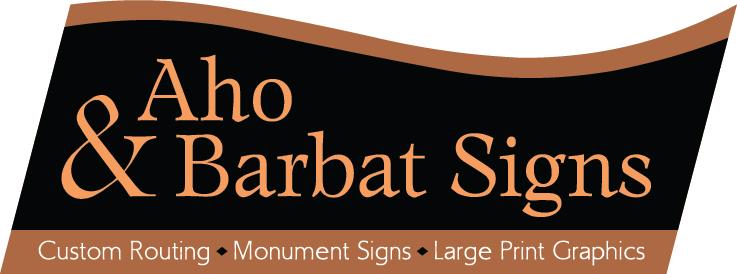 Aho & Barbat Signs Logo